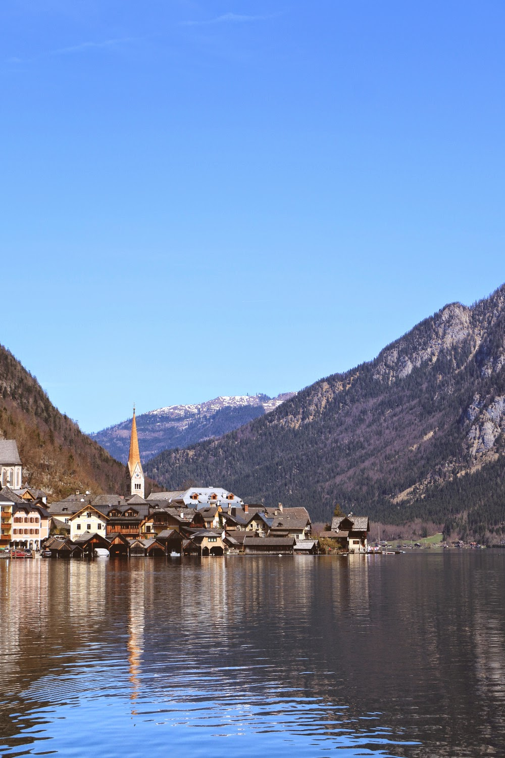 Boating in Hallstatt, Austria