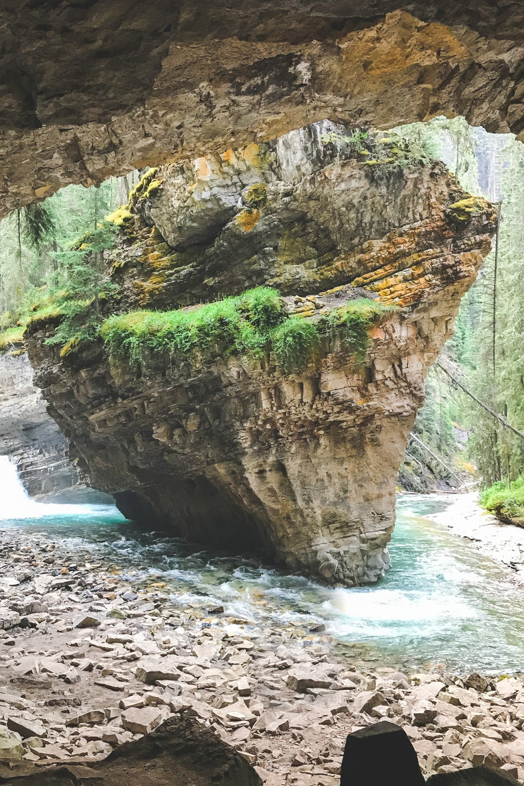 Exploring Johnston Canyon's Hidden Cave // Banff National Park